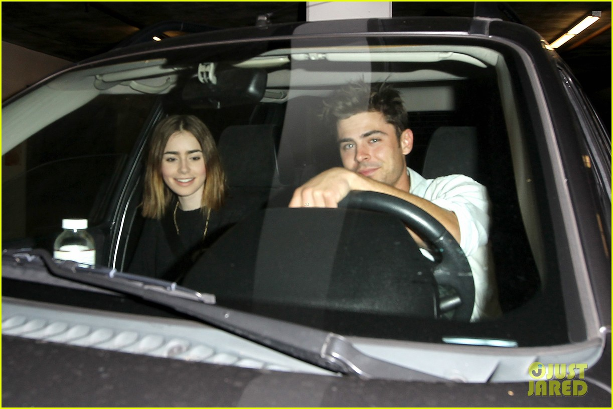 zac efron lily collins movie night out 03