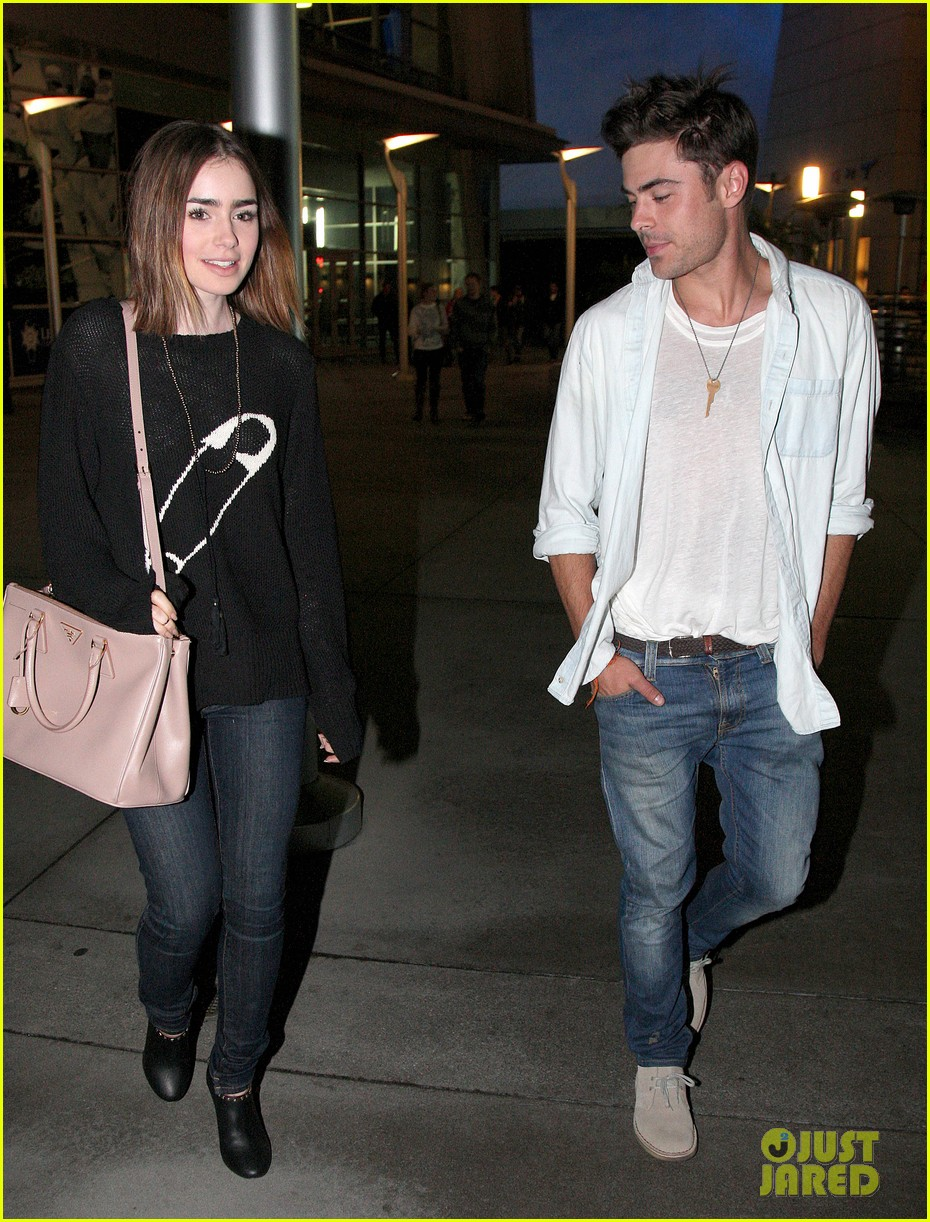 zac efron lily collins movie night out 052971458