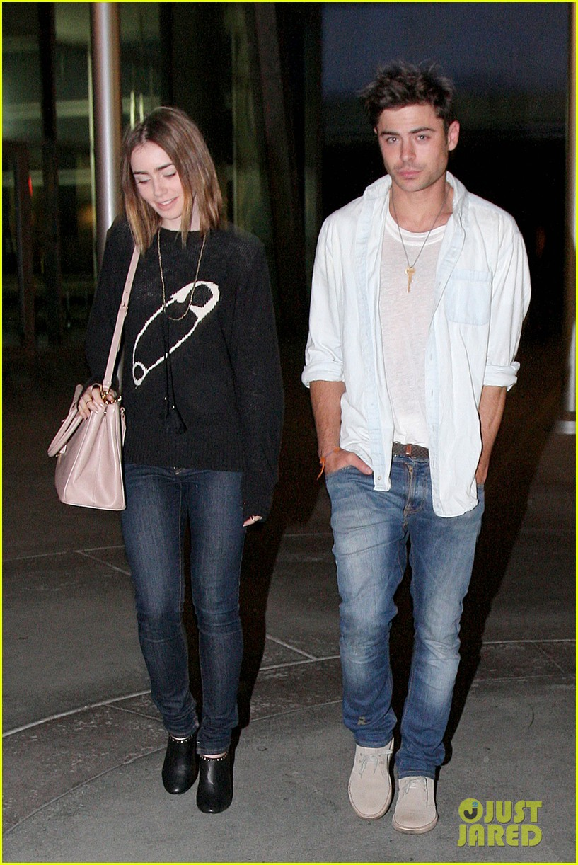 zac efron lily collins movie night out 062971459