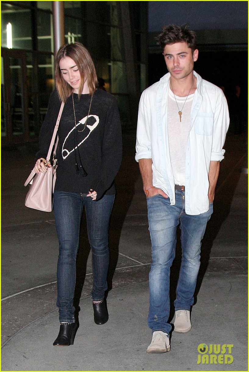zac efron lily collins movie night out 082971461