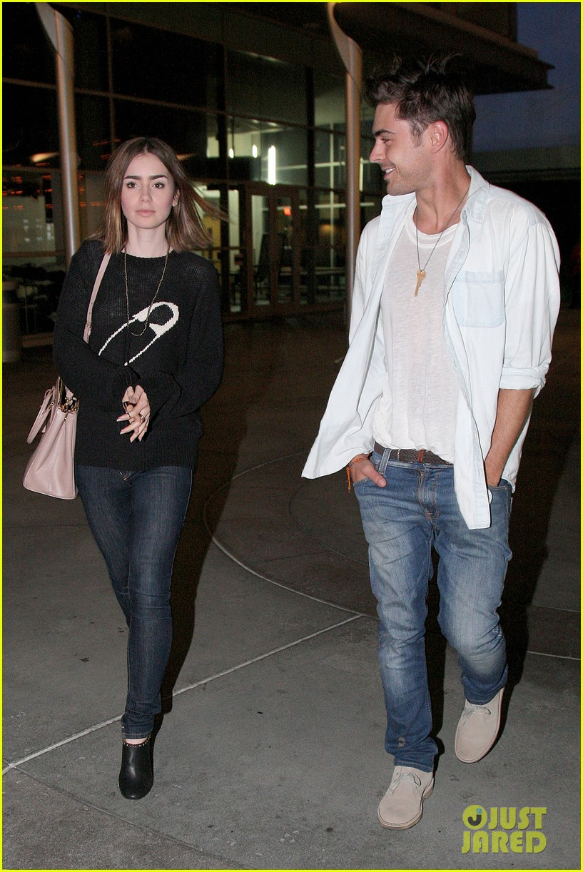 zac efron lily collins movie night out 102971463