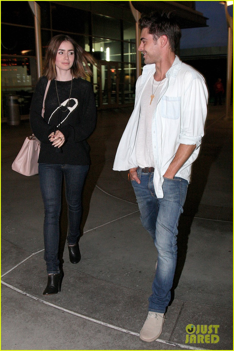 zac efron lily collins movie night out 112971464