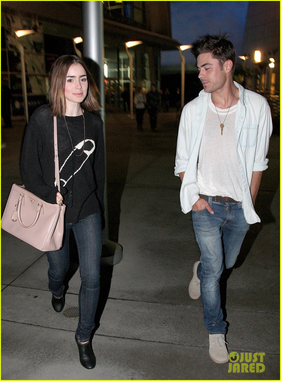 Zac Efron Amp Lily Collins Movie Night Out In Hollywood