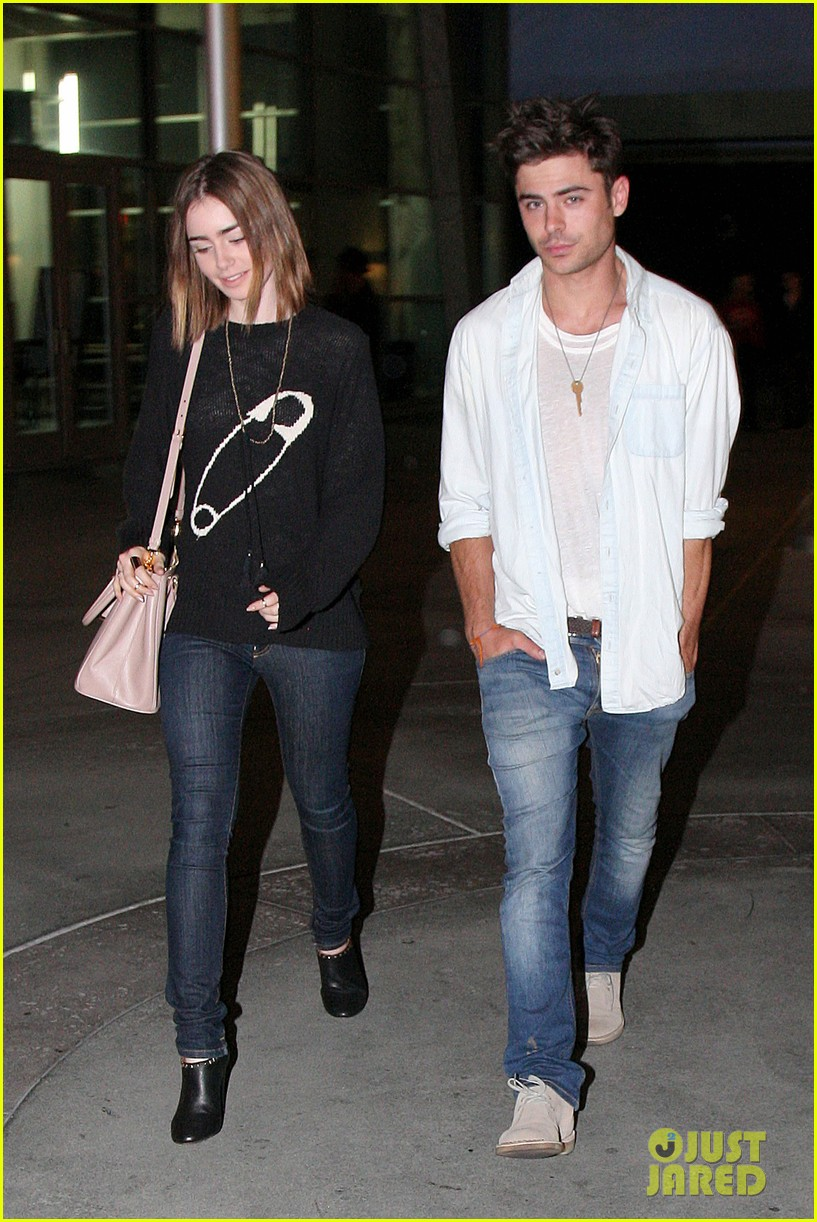zac efron lily collins movie night out 132971466