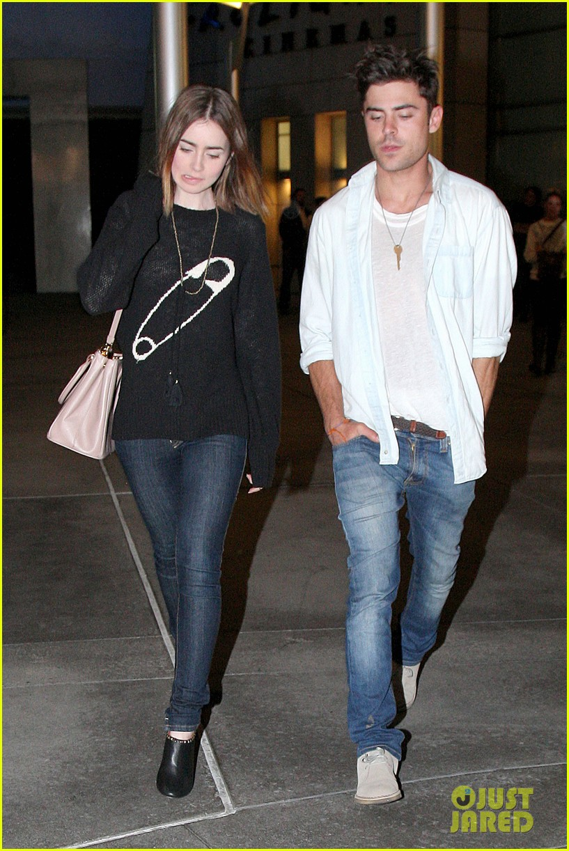 zac efron lily collins movie night out 15