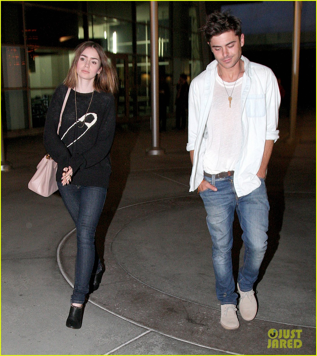 zac efron lily collins movie night out 162971469
