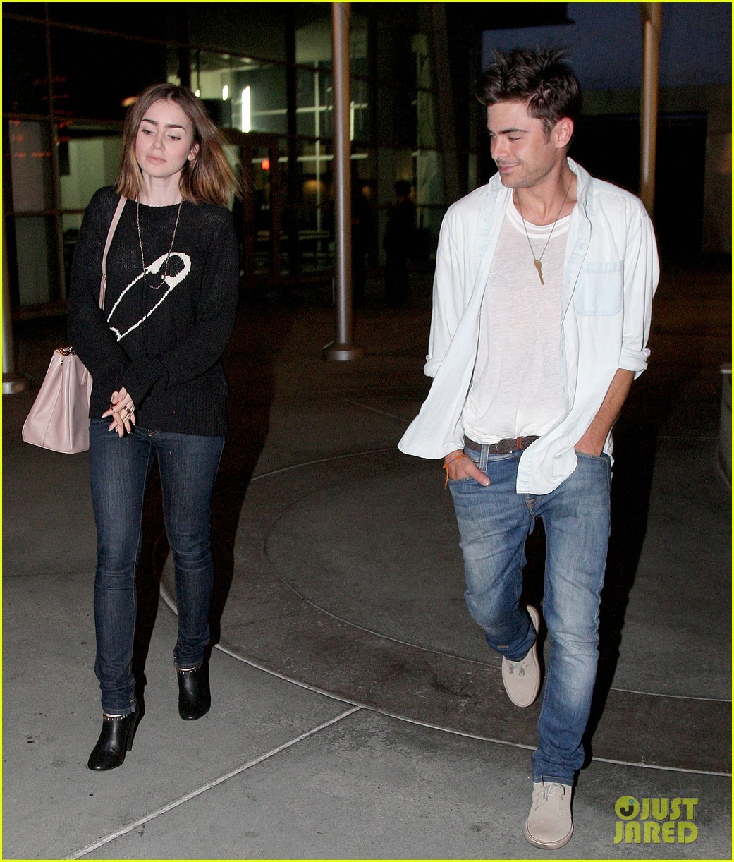 zac efron lily collins movie night out 212971474