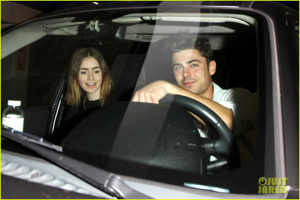 zac efron lily collins movie night out 222971475