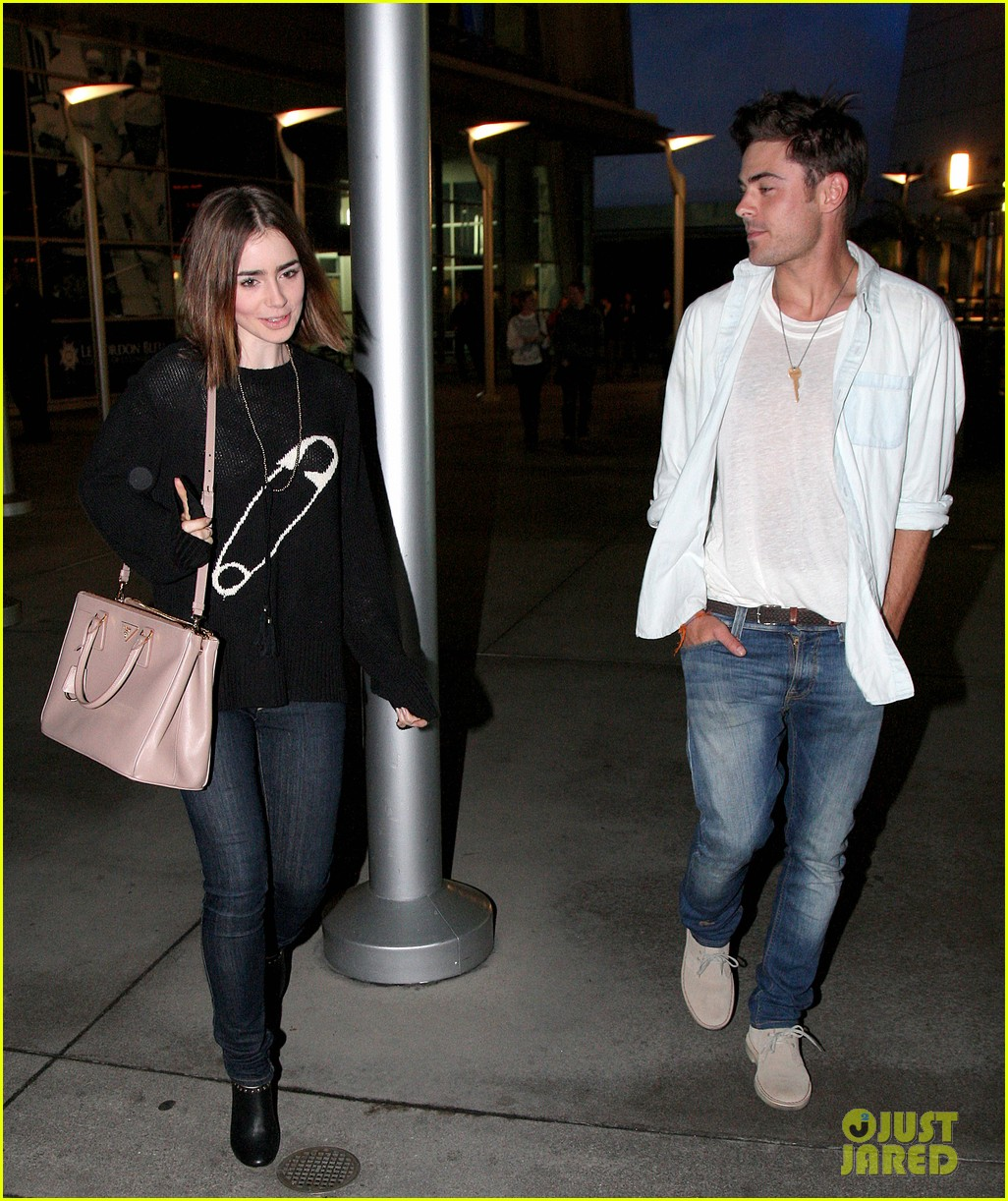 zac efron lily collins movie night out 23