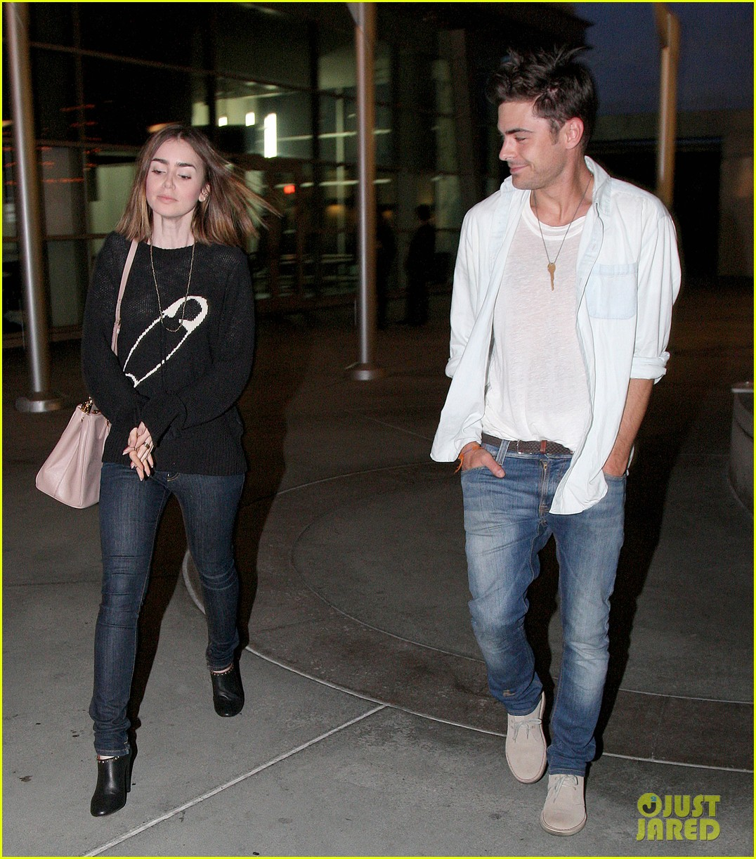 zac efron lily collins movie night out 242971477
