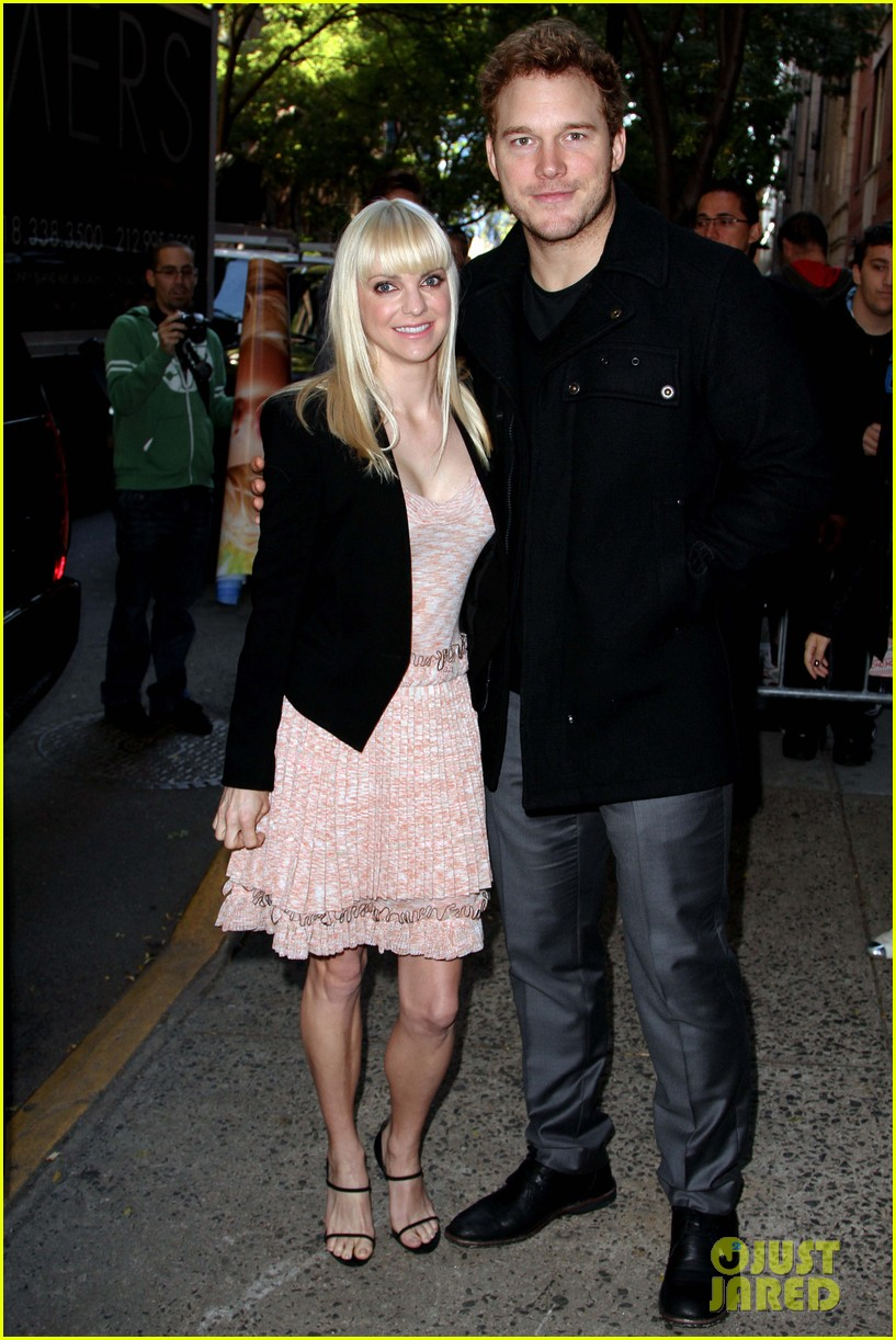 anna faris chris pratt do promo together in new york city 012972738