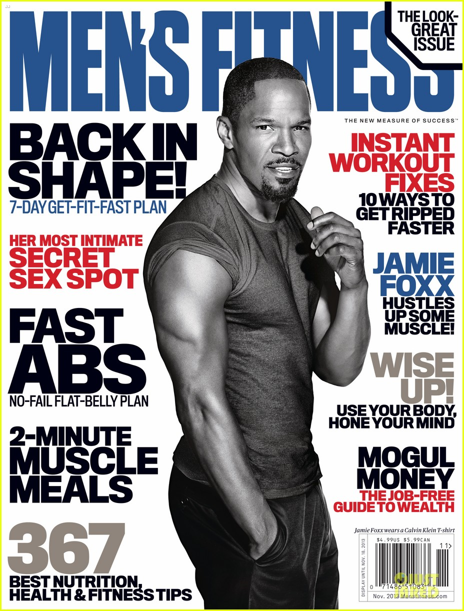 jamie foxx gun show for men fitness november 2013 02
