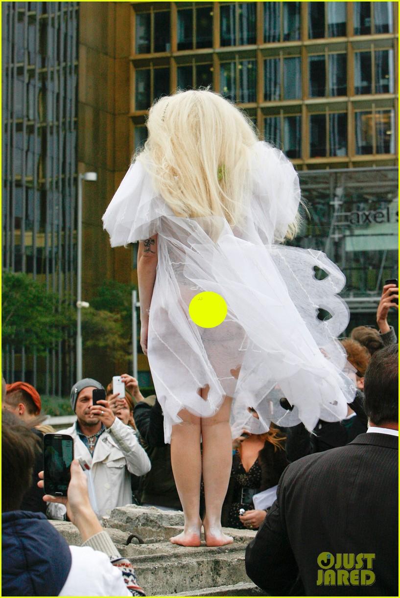 lady gaga naked under sheer cover up at berlin wall 032979053