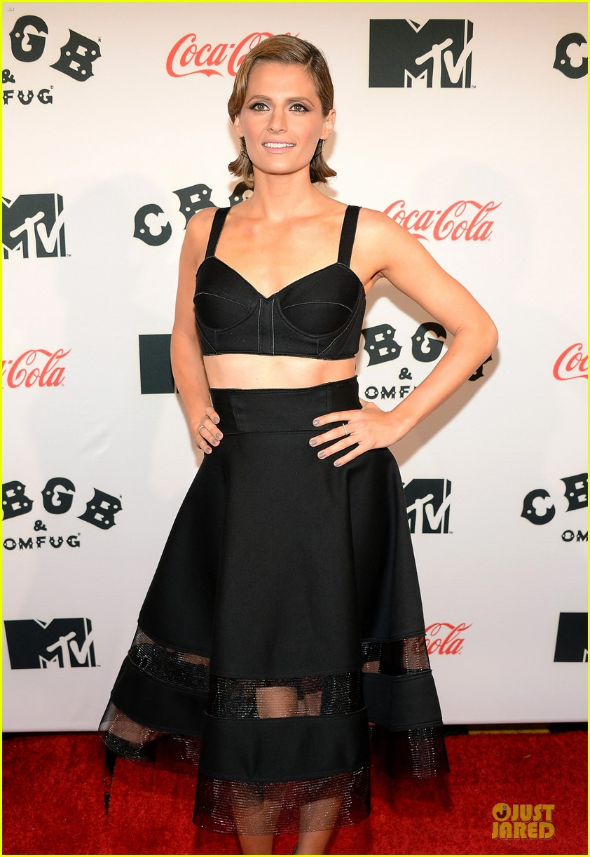 ashley greene stana katic cbgb nyc premiere 13
