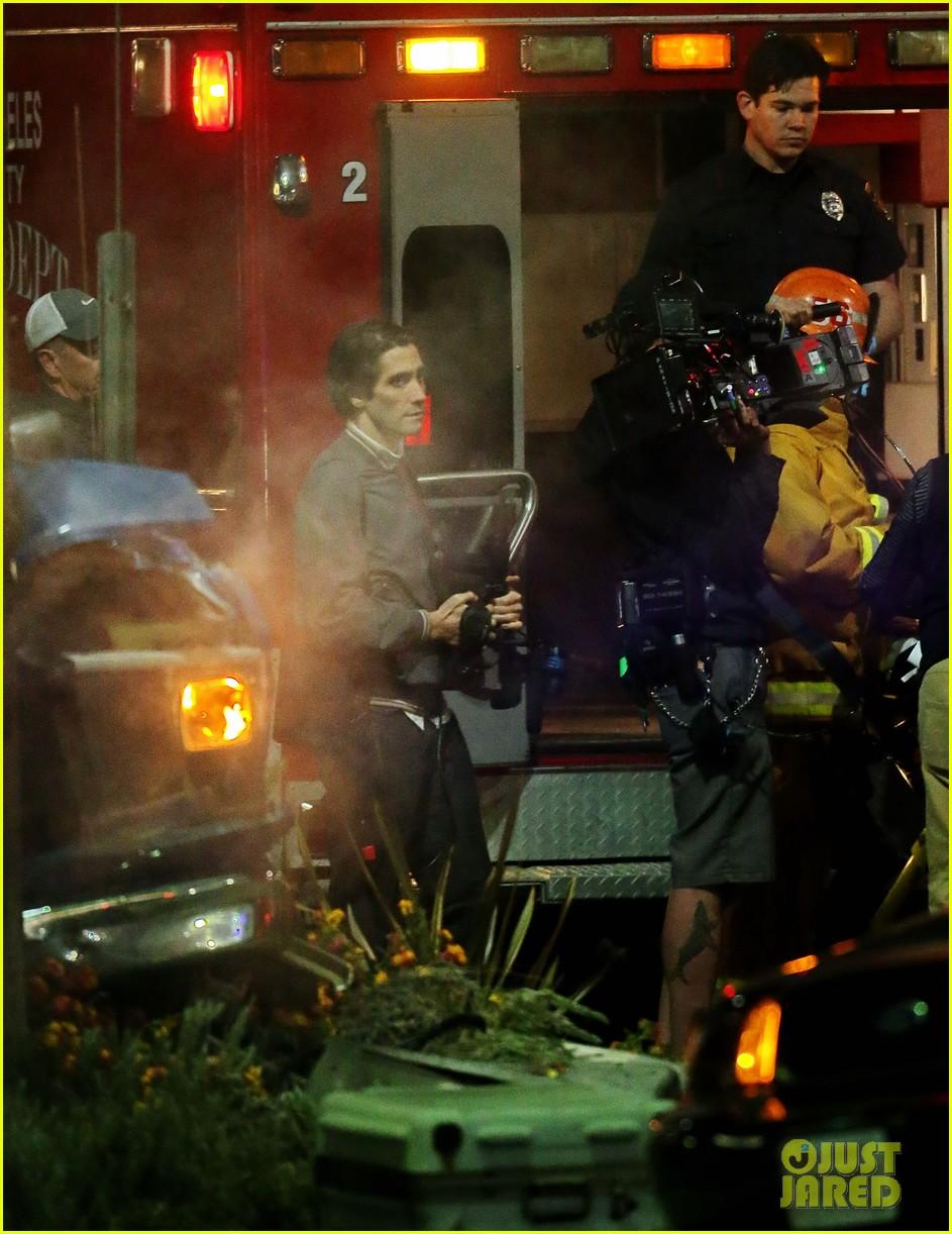 jake gyllenhaal overnight nightcrawler shoot 122976913