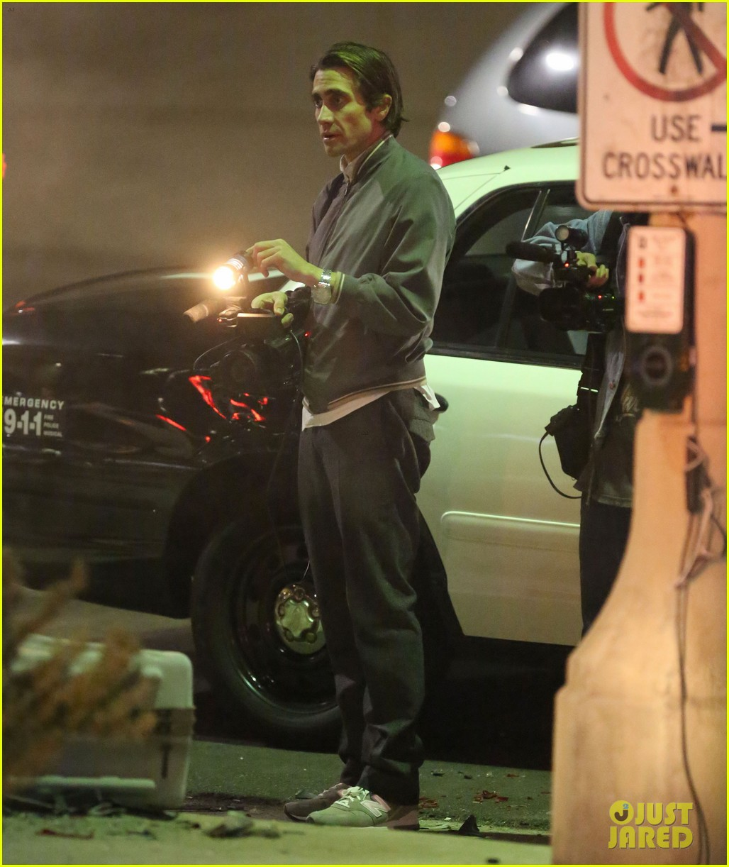 jake gyllenhaal overnight nightcrawler shoot 162976917