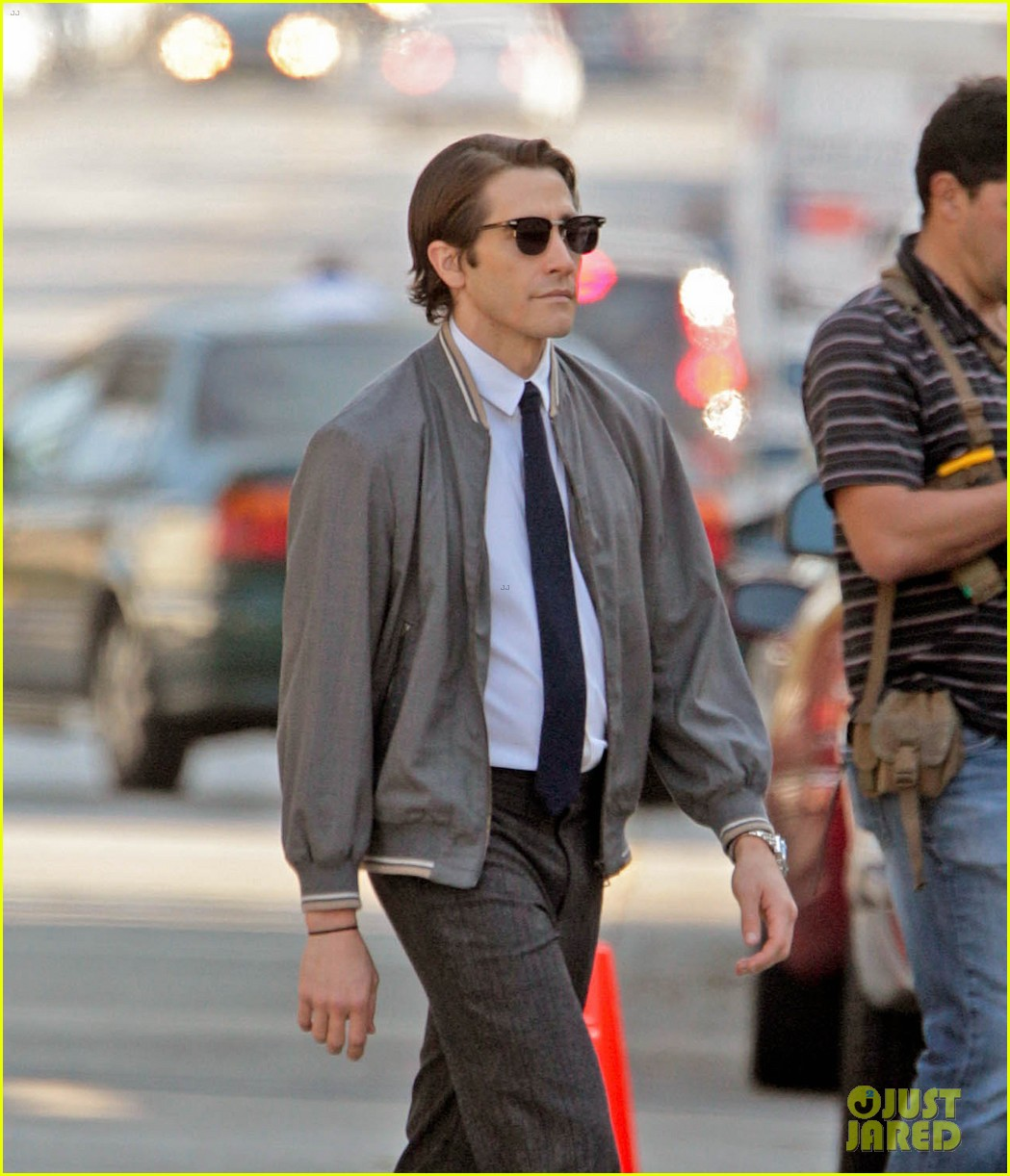 jake gyllenhaal looks slimmed down for nightcrawler shoot 042971604