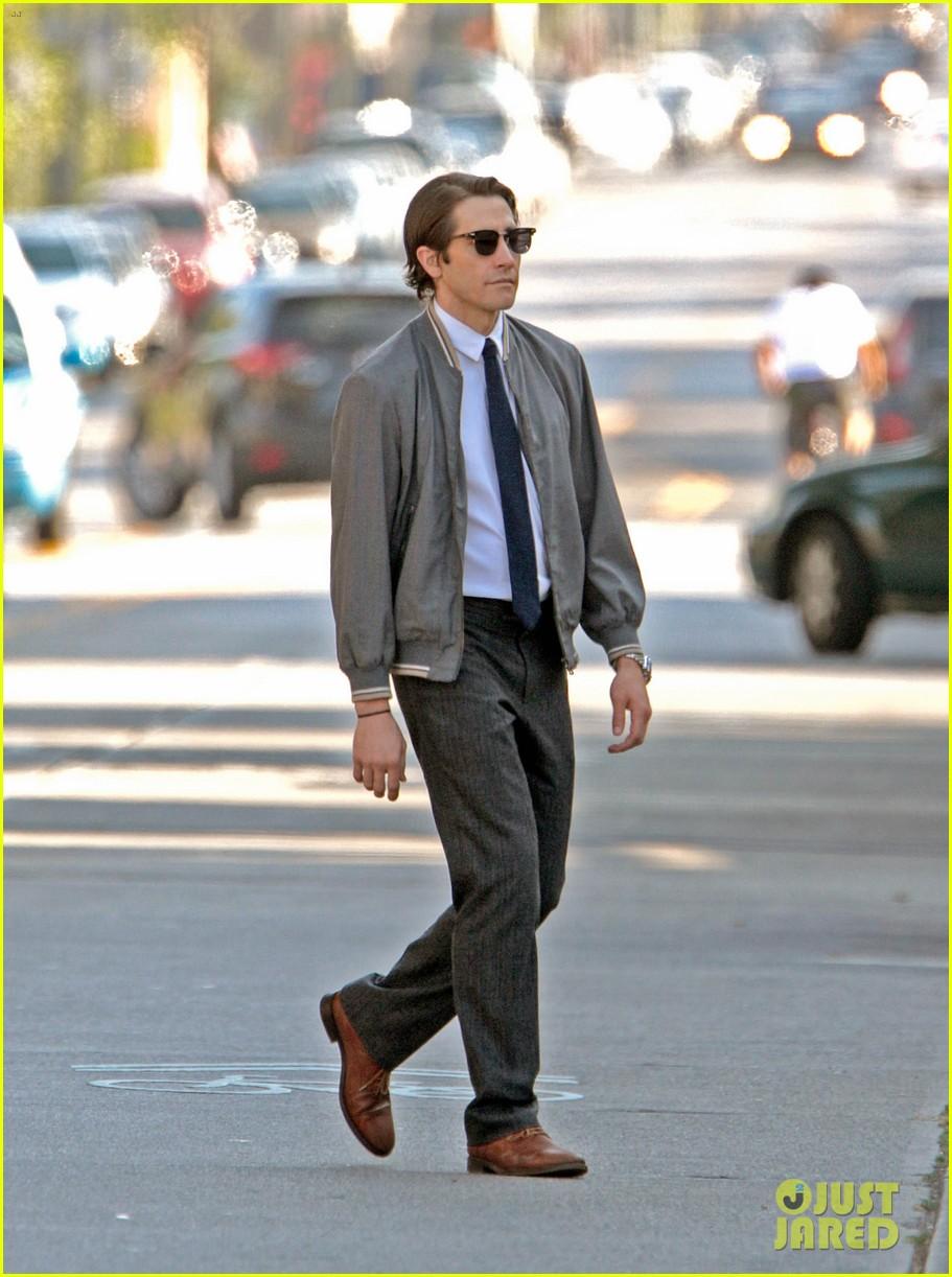 jake gyllenhaal looks slimmed down for nightcrawler shoot 092971609