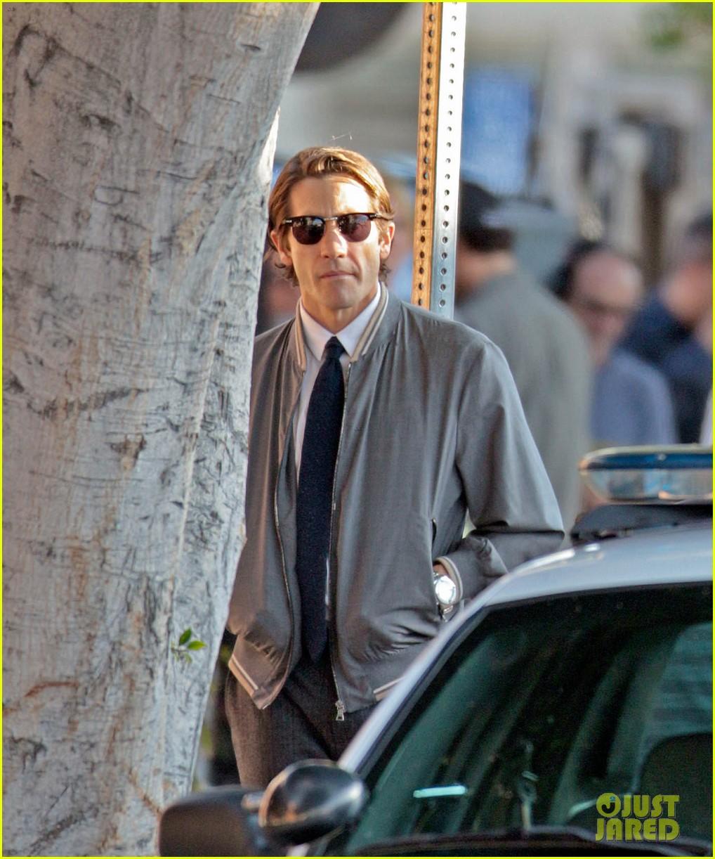 jake gyllenhaal looks slimmed down for nightcrawler shoot 112971611