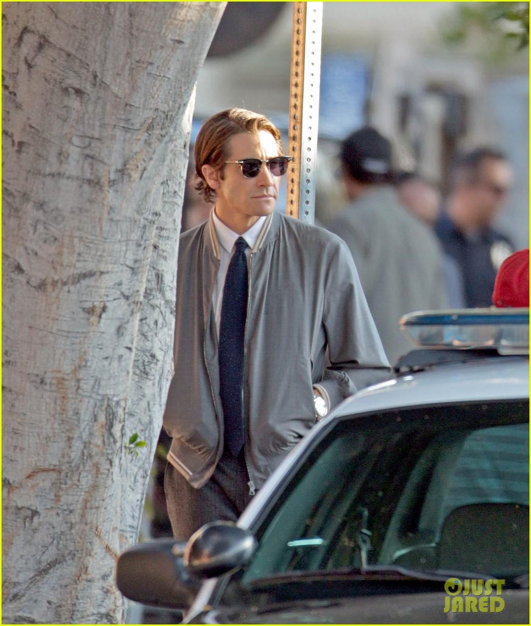 jake gyllenhaal looks slimmed down for nightcrawler shoot 122971612