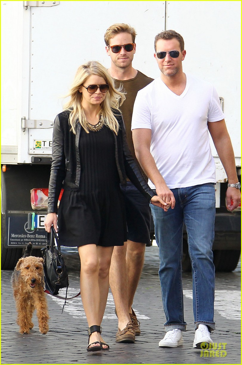 armie hammer man from uncle break with pet pooch 052964024