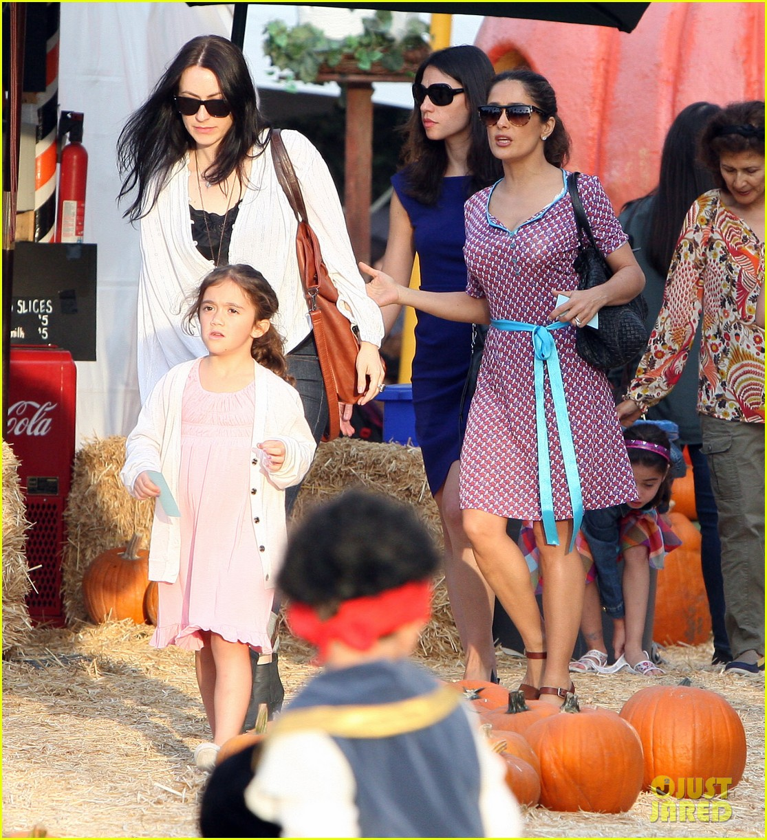 salma hayek fun filled weekend with the family 322981629