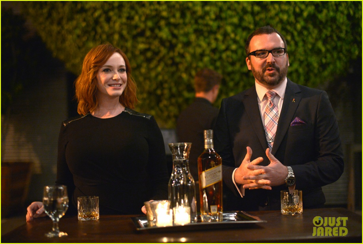 christina hendricks toasts johnny walker platinum 07