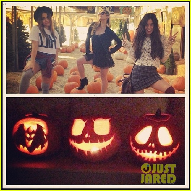 vanessa hudgens halloween horror nights with stella 032982399