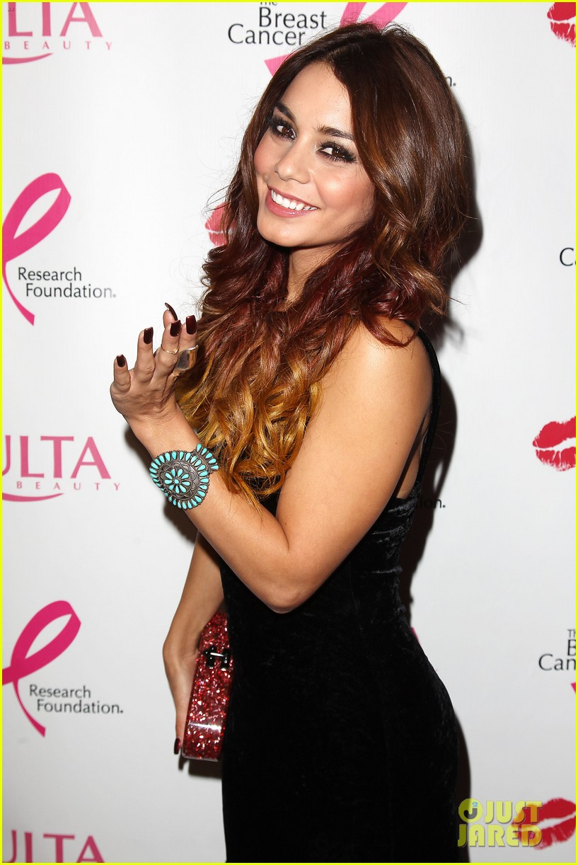 vanessa hudgens donates a kiss at ulta beauty event 022965457