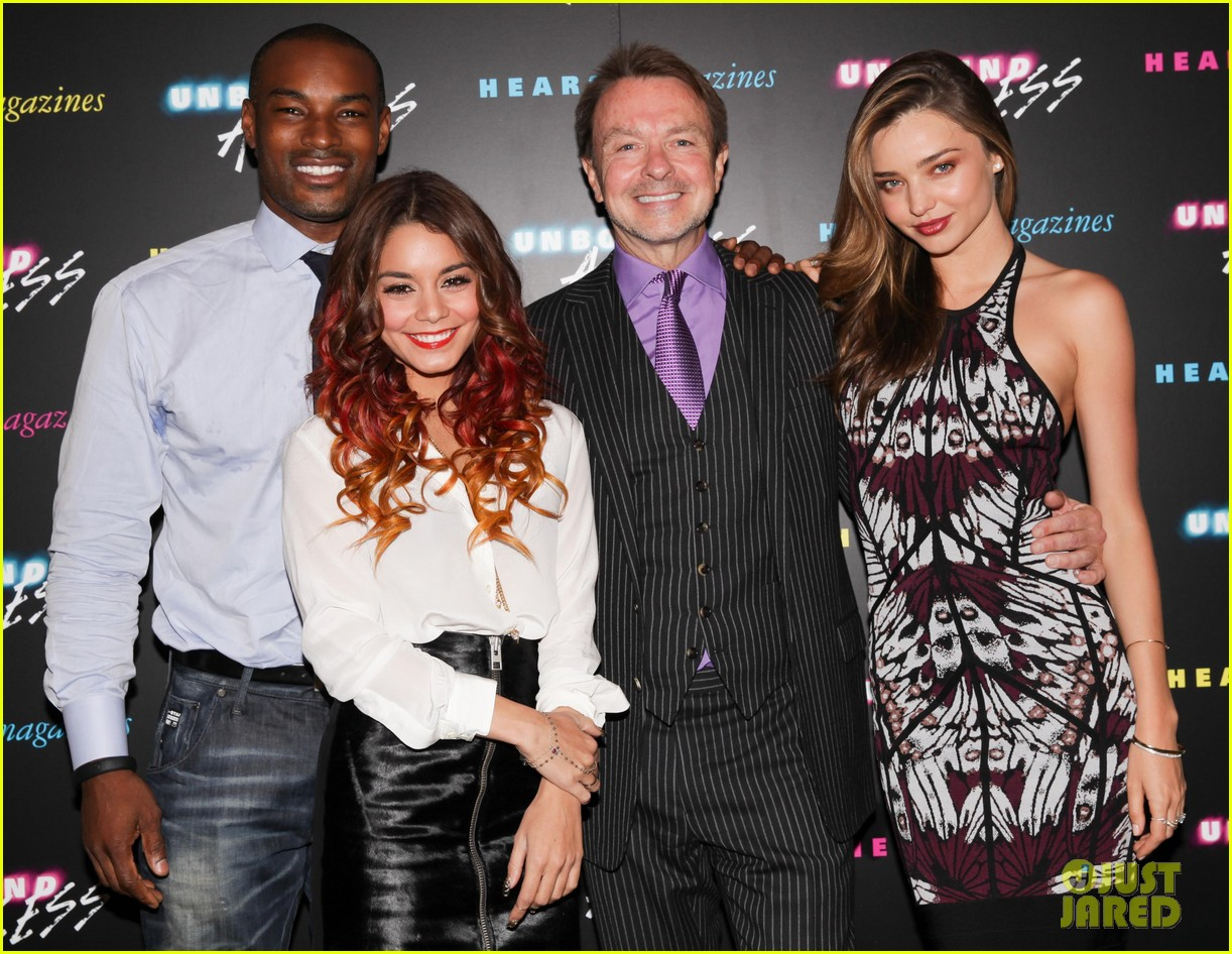 vanessa hudgens shows off multi colored hair with miranda kerr at hearst event 082972975