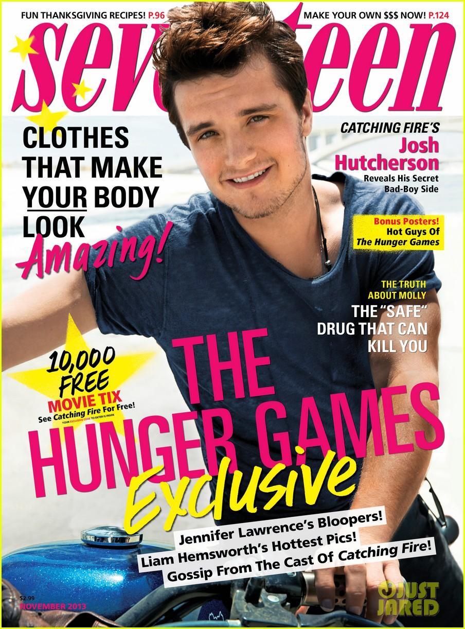 josh hutcherson covers seventeen november 2013 012972398