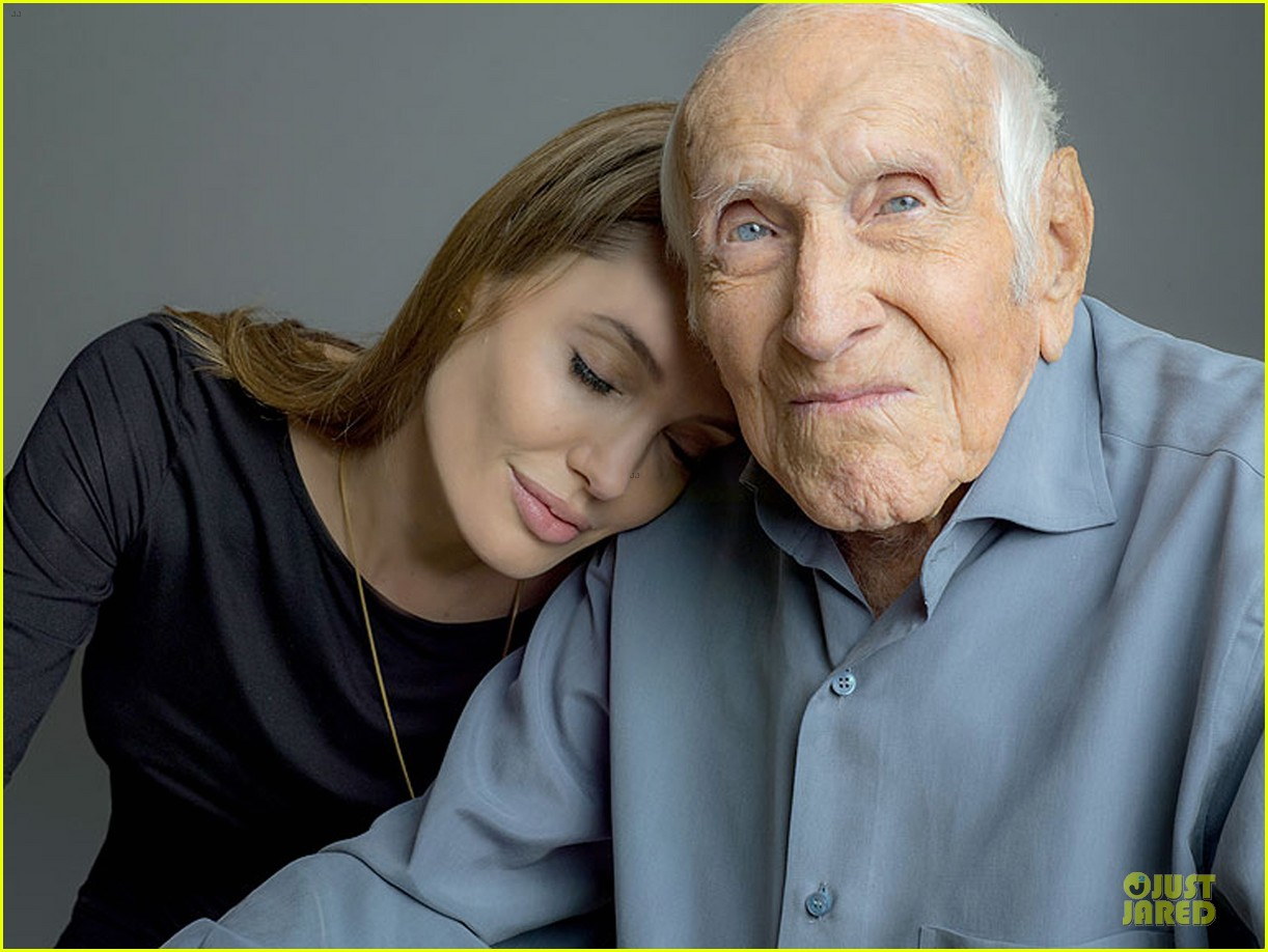 angelina jolie leans on unbroken hero louis zamperini 012969768