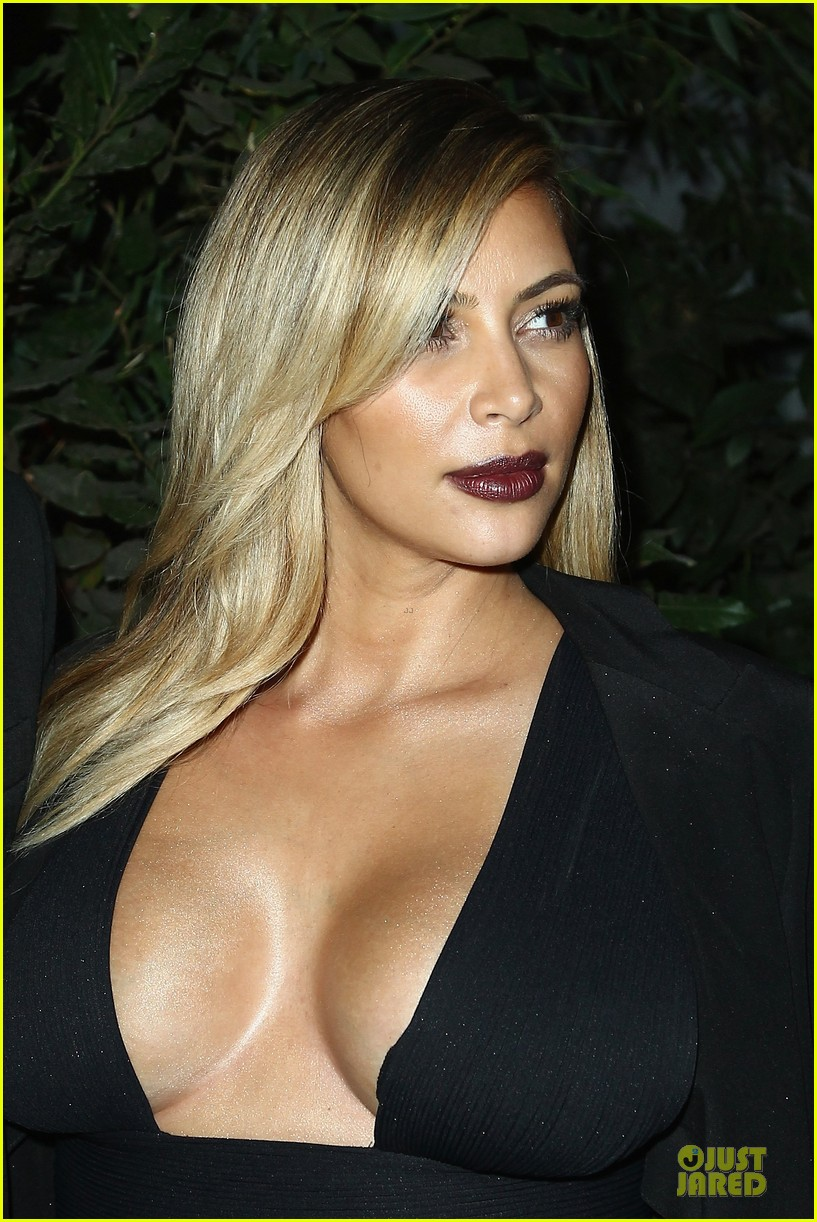 kim kardashian cleavage baring dress at mademoiselle c party 022964279