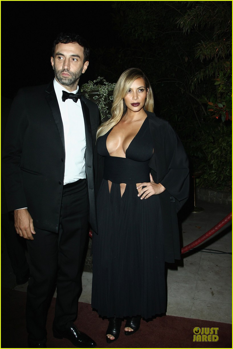 kim kardashian cleavage baring dress at mademoiselle c party 032964280
