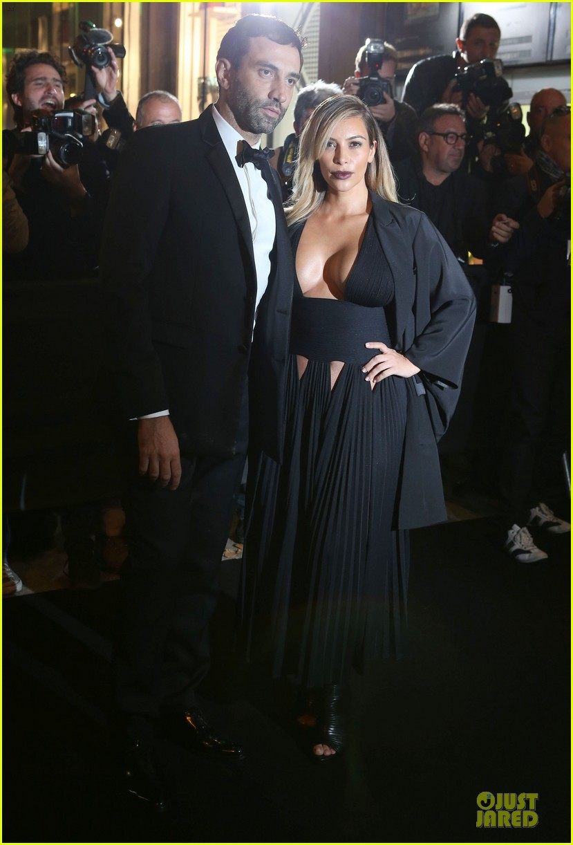 kim kardashian cleavage baring dress at mademoiselle c party 052964282
