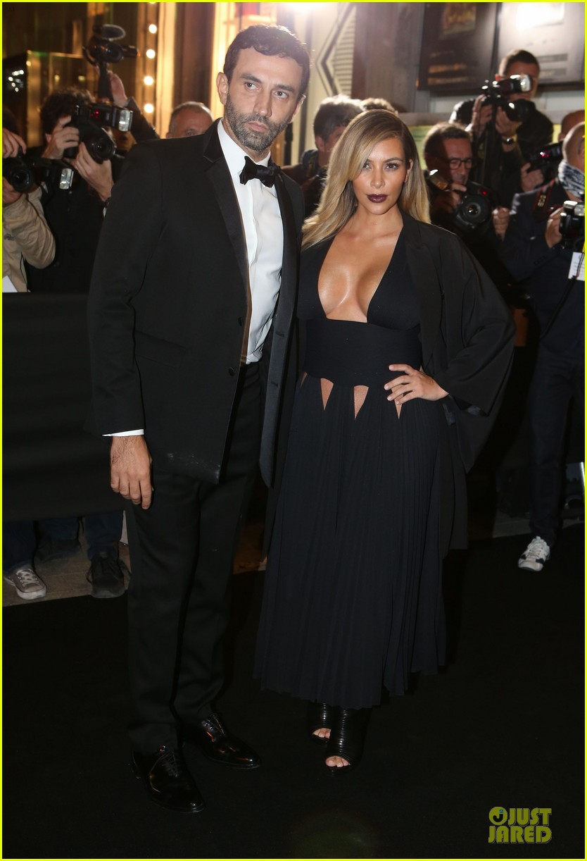kim kardashian cleavage baring dress at mademoiselle c party 092964286