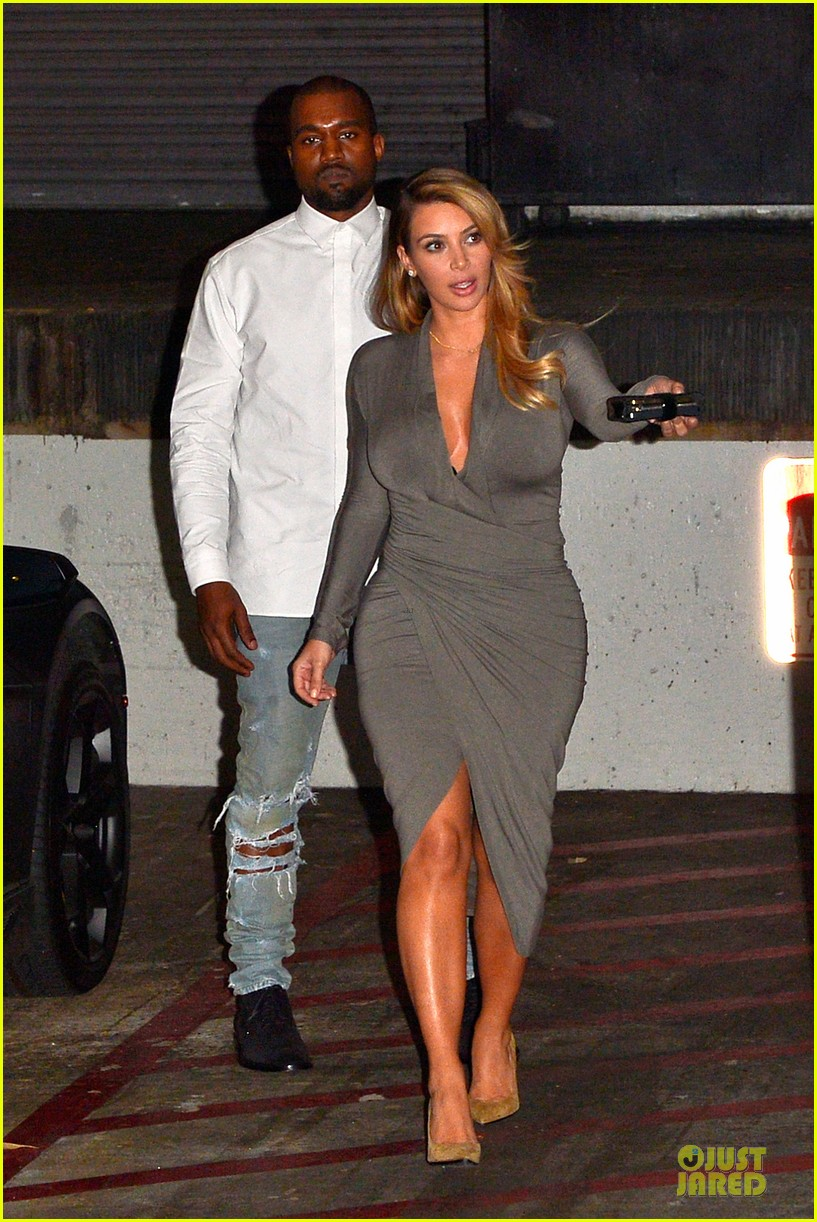 kim kardashian kanye west la opera date night 12
