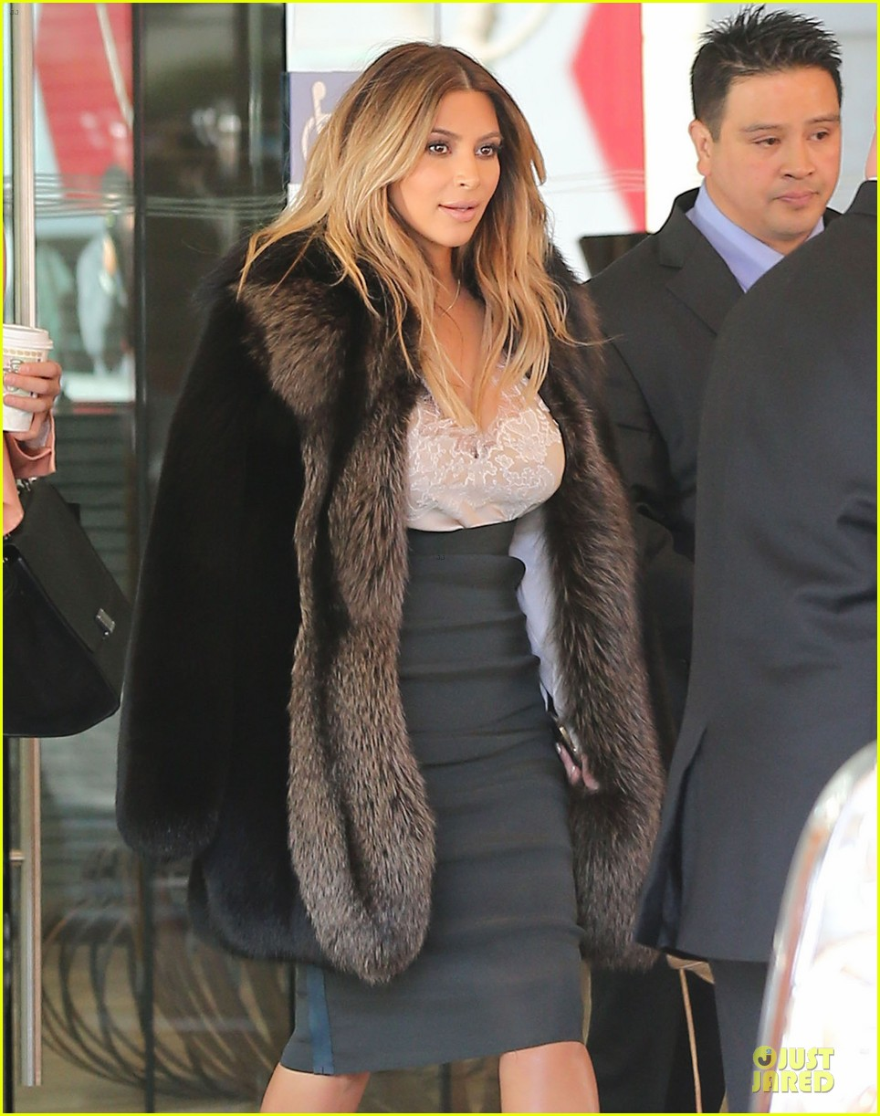 kim kardashian steps out after engagement to kanye west 022977206