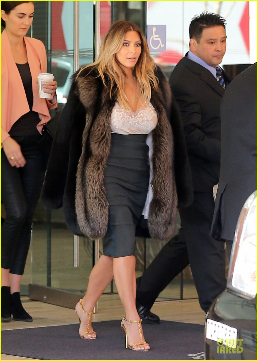 kim kardashian steps out after engagement to kanye west 10