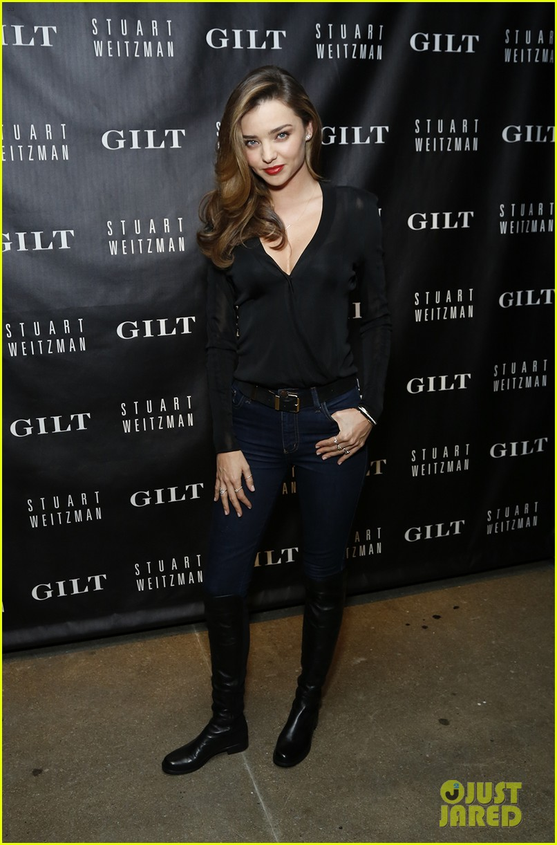 miranda kerr launches stuart weitzman gilt pop up shop 012973339