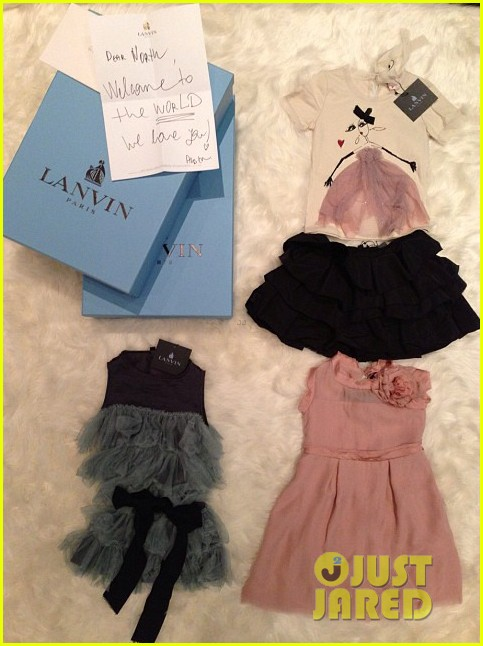 kim kardashian receives custom designer clothes gifts for north west 02