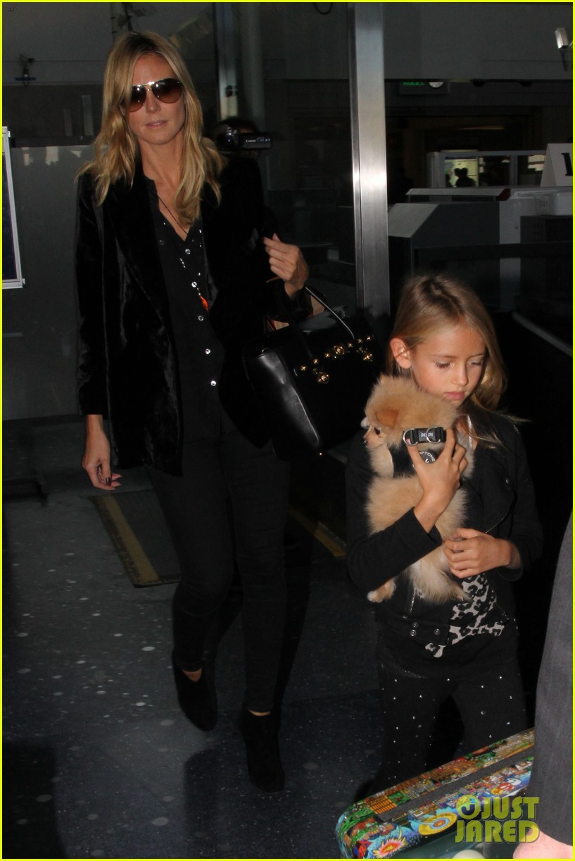 heidi klum martin kirsten kids soccer game duo before lax 022967651