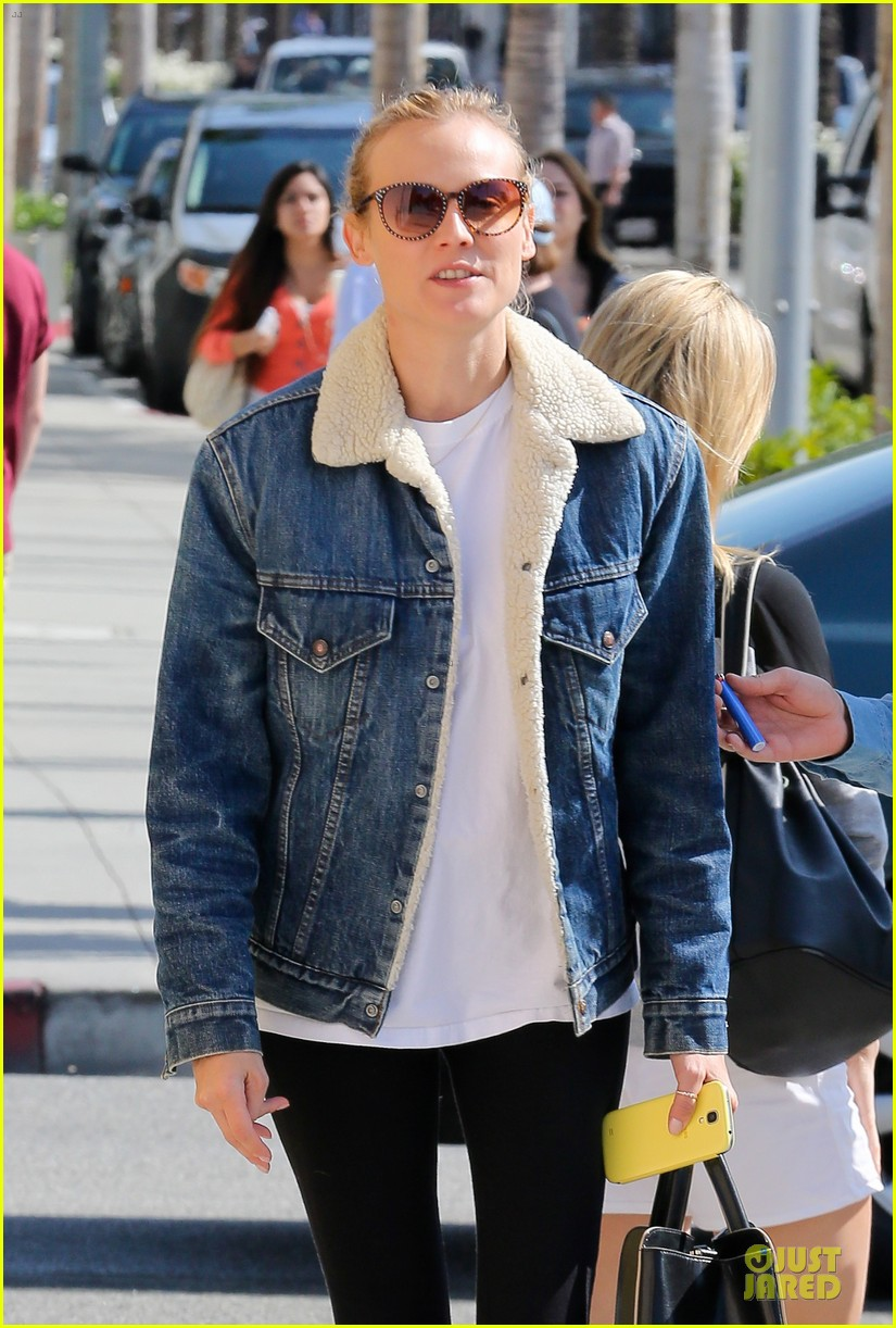 diane kruger prepares for fall with denim jacket 042969812