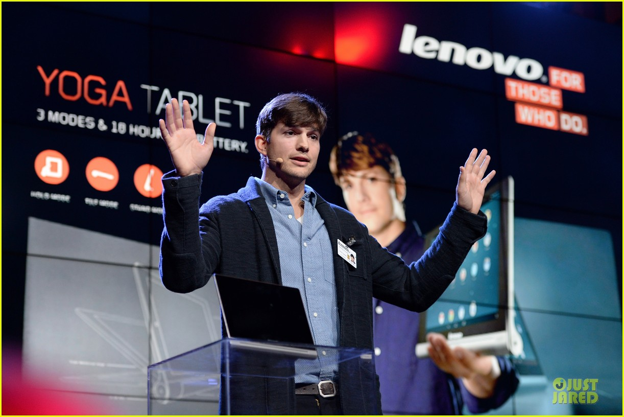 ashton kutcher lenovo product engineer at yoga tablet launch 092982715