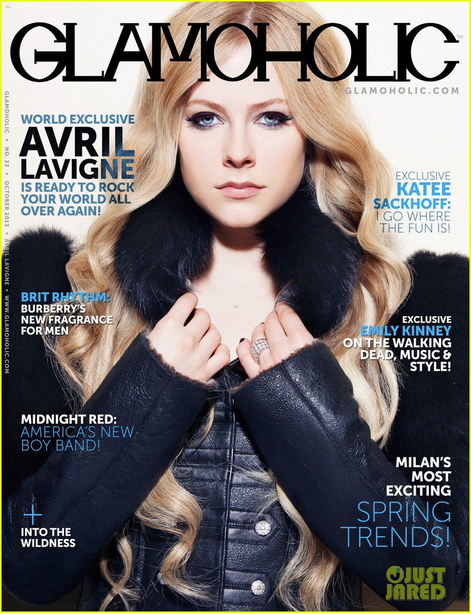 avril lavigne covers glamoholic october 2013 052981582
