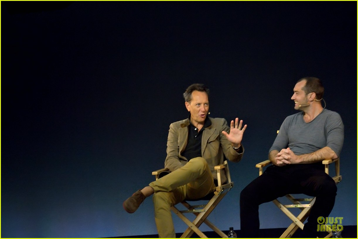 jude law richard e grant dom hemingway promo at apple 07