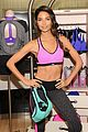 lily aldridge lindsay ellingson display abs at sports bra launch 11