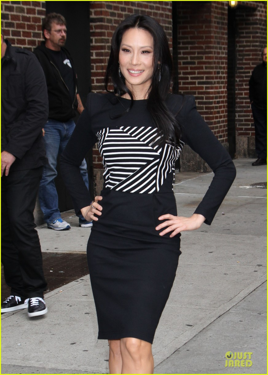 lucy liu mark ruffalo david letterman guests 022969348