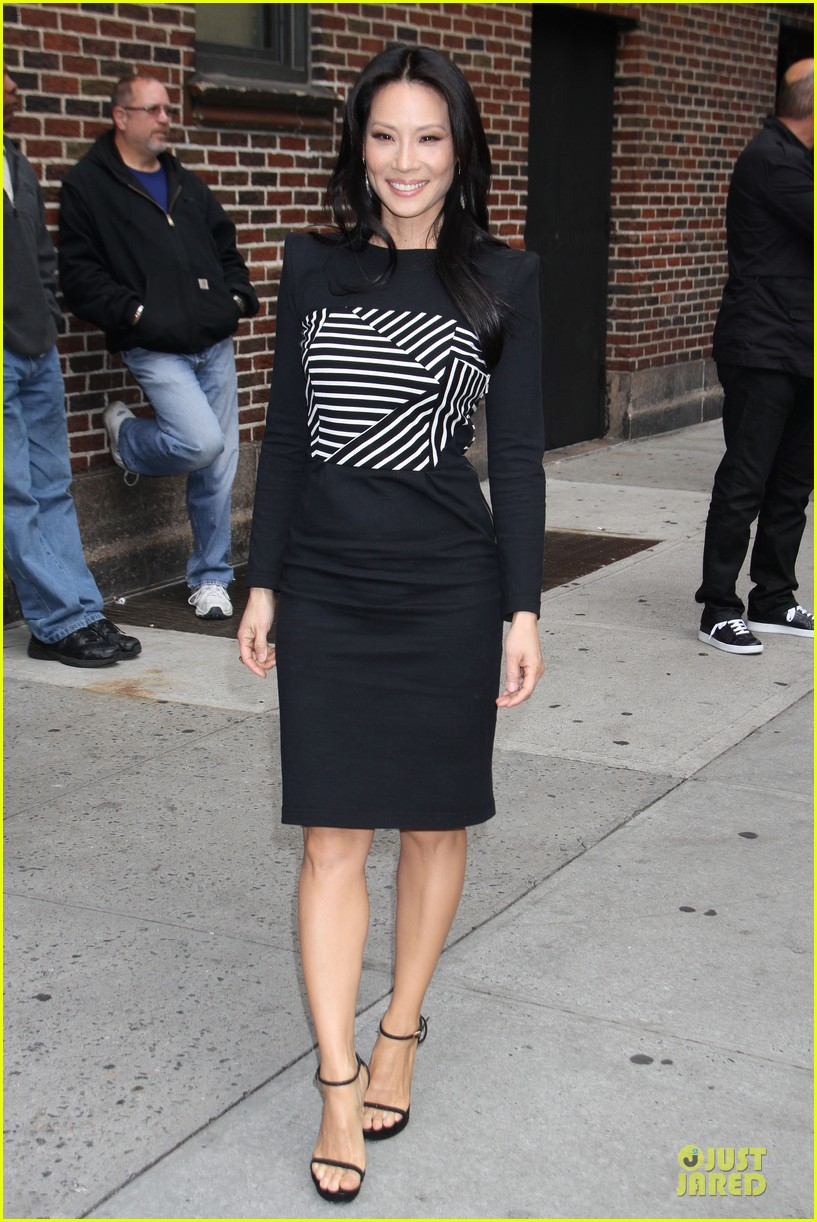 lucy liu mark ruffalo david letterman guests 092969355