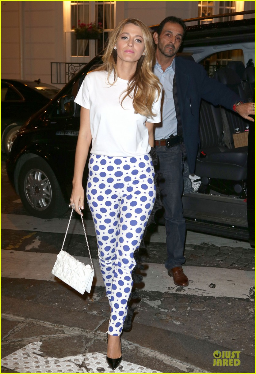 blake lively hotel balzac dinner after loreal announcement 012982730